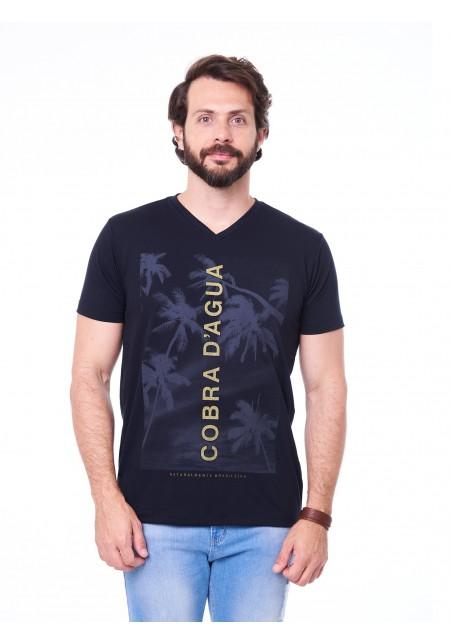 Camiseta Cobra D'agua Assinatura Vertical - Preto