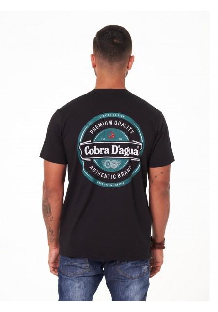 Camiseta Cobra D'agua Série Cerveja - Preto