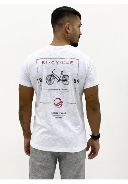 Camiseta Cobra D'agua Manga Curta Masculina Bicycle - Branca