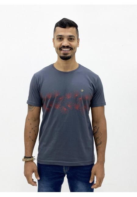 Camiseta Cobra D'agua Masculina Folharem Tropical - Grafite