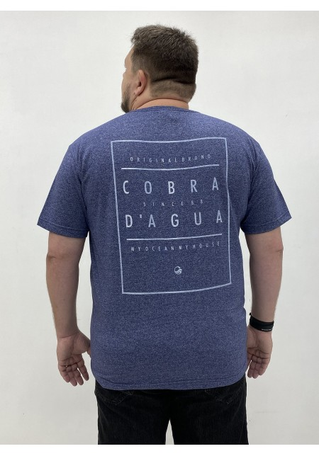 Camiseta Plus Size Masculina Cobra D'agua Marca Registrada - Marinho