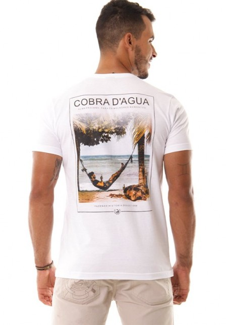 Camiseta Cobra D'agua Alma Praiana - Branco