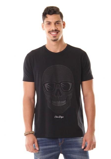 Camiseta Cobra D'agua Caveira - Preto