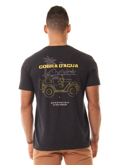 Camiseta Cobra D'agua Jeep - Preto