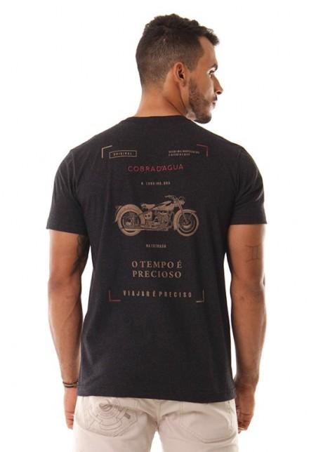 Camiseta Cobra D'agua Motocicleta - Preto
