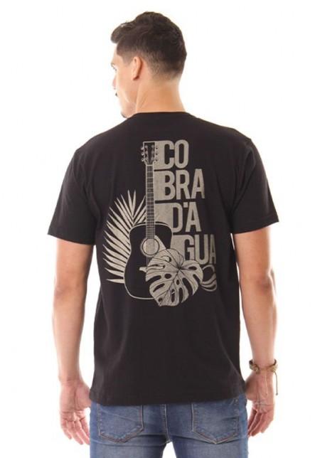 Camiseta Cobra D'agua Natureza Musical - Preto