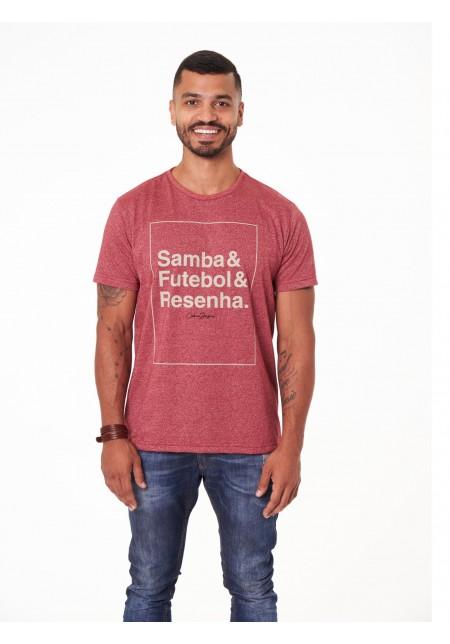 Camiseta Cobra D'agua Resenha - Bordo