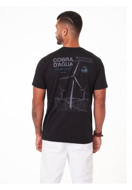 Camiseta Cobra D'agua Sustentável - Preto